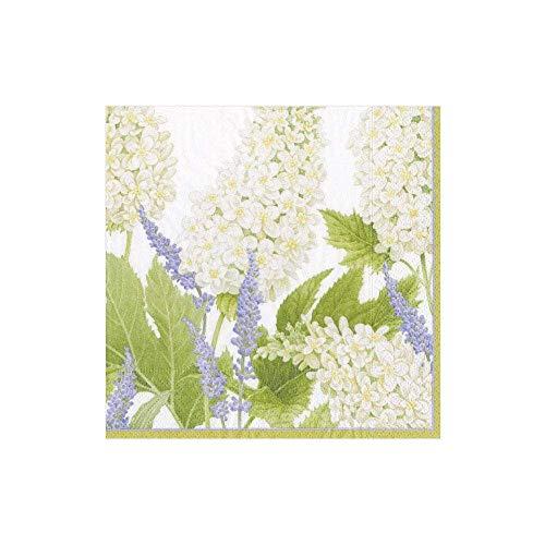 Entertaining with Caspari Fleur De Marriage - Tovaglioli di carta da cocktail, 12,7 x 12,7 x 3 cm, colore: Bianco