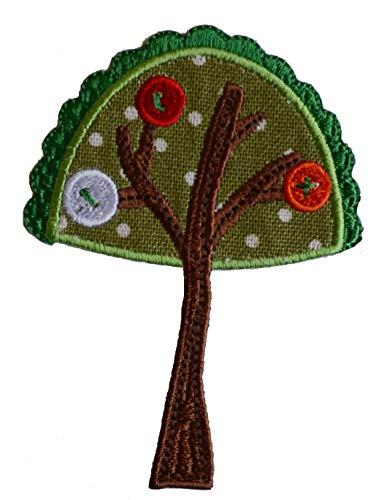 TrickyBoo 2 opstrijkbare boom 7 x 9 cm diplodocus 10 x 8 cm set patch applicaties voor het repareren van kinderkleding met design Zürich Zwitserland voor Duitsland en Oostenrijk