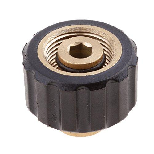 homyl 14mm Agujero latón manguera Acoplamiento rápido adaptador de acoplamiento con rosca–Female 1/4to Female M22x 1.5Socket