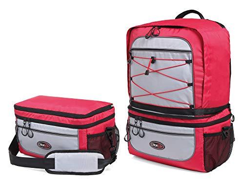Cabin Go MAX 5565 - Zaino Trasformabile in Borsa 2 in 1 – Zaino da Cabina 55x40x20 e Bagaglio a Mano Borsa a Tracolla 40x20x25 per le compagnie aeree più' importanti. (Rosso)
