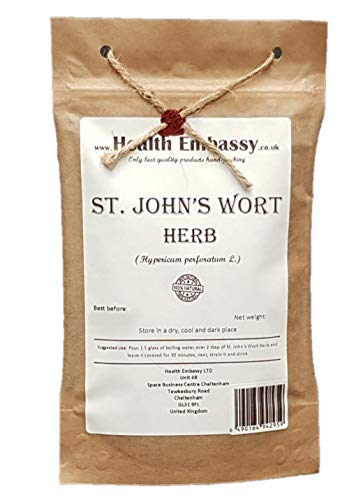 Health Embassy Iperico Té (Hypericum perforatum) / St. John's Wort Tea, 50g
