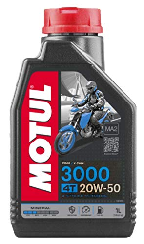 RS Motul 3000 4T 20W50 Aceite mineral para motor de motocicleta, Road V-Twin, Harley Davidson, 1 litro