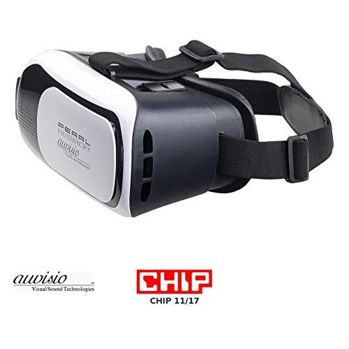 auvisio Virtuelle Brille: Virtual-Reality-Brille VRB58.3D für Smartphones, 3D-Justierung (Handybrille)