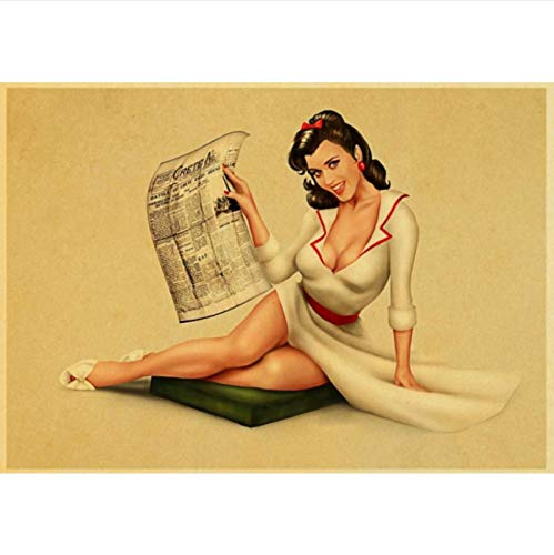 lubenwei Retro wall sticker World War II Pin up Girls poster classic posters and prints home art wall painting 40x50cm No frame N-1652