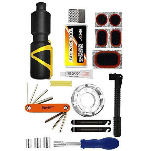 Patpan Fahrrad-Reparatur-Werkzeug-Kit Fahrrad-Rad-Spoke Fahrradreparaturschlüssel Mini-Handpumpe Schlauch Patches Reifen Datei Lever Set