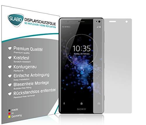 Slabo 4 x Bildschirmschutzfolie für Sony Xperia XZ2 Bildschirmfolie Schutzfolie Folie Zubehör No Reflexion MATT