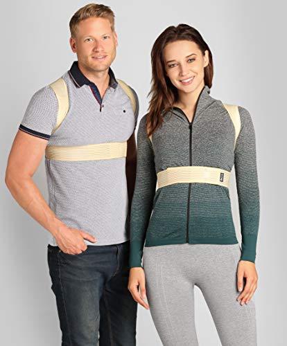 ®BeFit24 Schultergurt Haltungskorrektur für Damen und Herren - Geradehalter für Rücken Schulter - Rückenstabilisator - Haltungstrainer - Back Support Posture Corrector [ Size 5 - Beige ]
