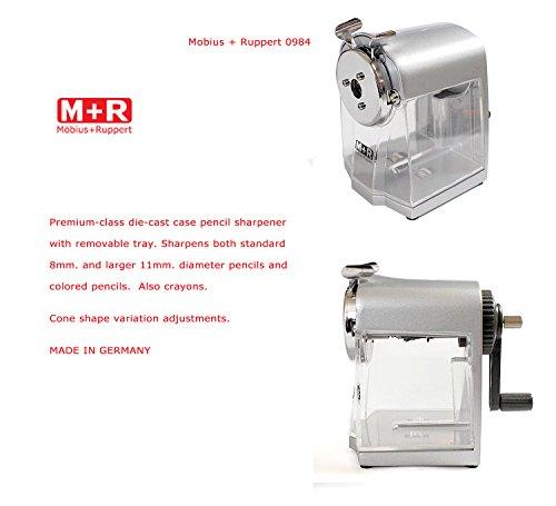 M+R 709840000 Kurbel-Spitzmaschine Gehäuse Druckguß, silber