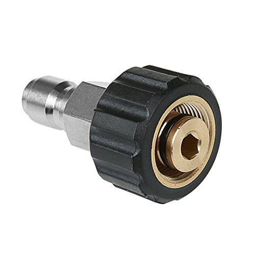 NUZAMAS alta presión arandela conector M22 rosca a 3/8 \'conector rápido latón rosca interna manguera tubo de conexión piezas