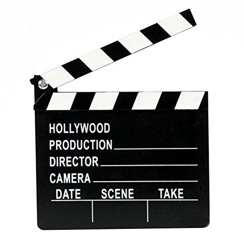 STOBOK Wooden Director's Clapper Board Movie TV Cut Action Scene Clapper Board Slate Toys for Kids Children