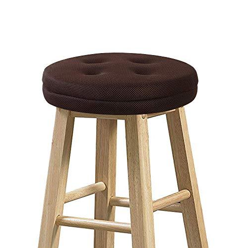 Bar Stool Cushion, baibu Super Breathable Round Bar Stool Cover Seat Cushion Brown 13' - Cushion Only