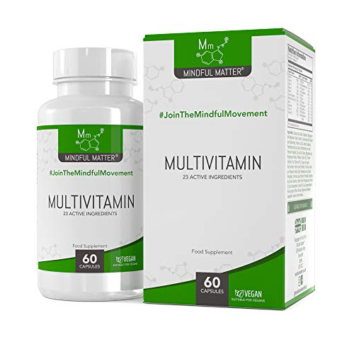 MM Multivitamin Capsules for Women & Men | 60 High Strength Vegetarian Multivitamins with Vitamin D, Folic Acid, Riboflavin, Magnesium & Essential Vitamins | Non-GMO, Gluten, Dairy & Allergen Free