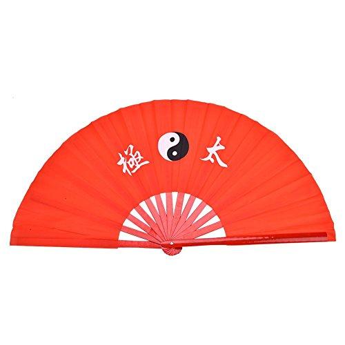 Alomejor Chinese Kung Fu Tai Chi Fan, Praktijk Prestatie Bamboe Ventilator voor vechtsporten Fan Dragon Hand fan