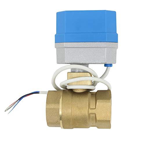 12v - 2 tipos de conexion - valvula esfera motorizada normal