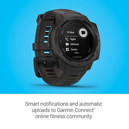Garmin Instinct, Rugged Outdoor Watch with GPS, Features GLONASS and Galileo, Heart Rate Monitoring and 3-Axis Compass, Graphite New Mexico