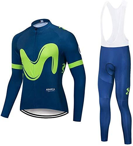Long Sleeve Cycling Jersey Set Breathable Racing Bike Clothes MTB Bike 9D Gel Pad,C-XXXL