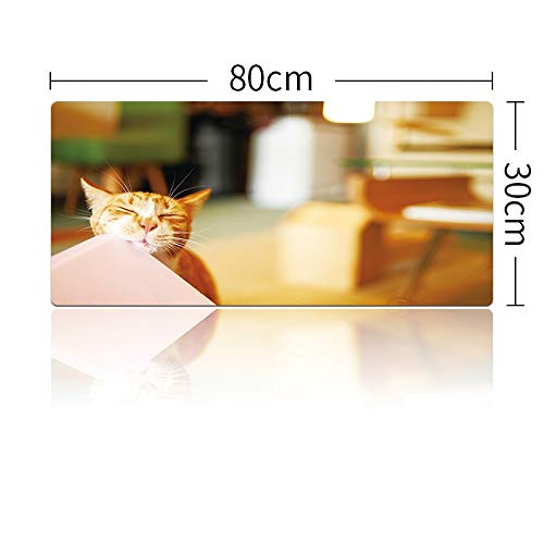 Muis Pads voor Pc Leuke Kat Grote Muis Pad Toetsenborden Mat Rubber Gaming Mousepad Bureau Mat voor Game Player Desktop Pc Computer, 700x300x3mm