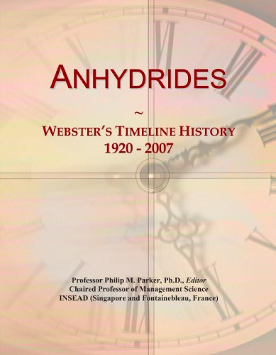 Anhydrides: Webster's Timeline History, 1920 - 2007