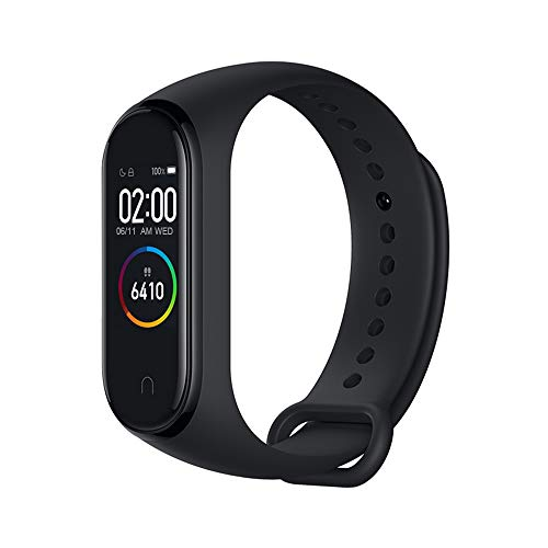 Xiaomi Band 4 Fitness Tracker 0,95 inch Kleur AMOLED Monitor Hartslagfrequentie 50 m Activity Tracker Waterdicht Smart Armband 2019 Zwart E-Commerce 21,6 mm