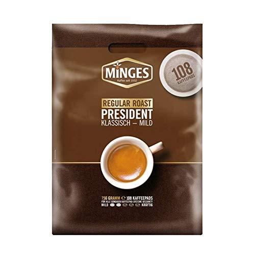 Minges Kaffeepads Megapack Café Crème Regular, Kaffee, 100 + 8 Pads Gratis