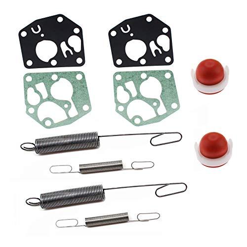 AISEN 2 Sets of Vergaser Membrane mit Reglerfeder Feder Benzinpumpe für Briggs & Stratton 692211 691859 795083 495770 694394