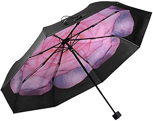 Regenschirm Zweifach Gefaltete Sonne Unisex Schwarz Gel Sonnenschutz Sonnenschutz Xiaoheiqing Tragbare Und Kompakte Mehrere Optionen-b Regenschirm Sturmsicher Lightweight Wunderschönen Rutschsicherem