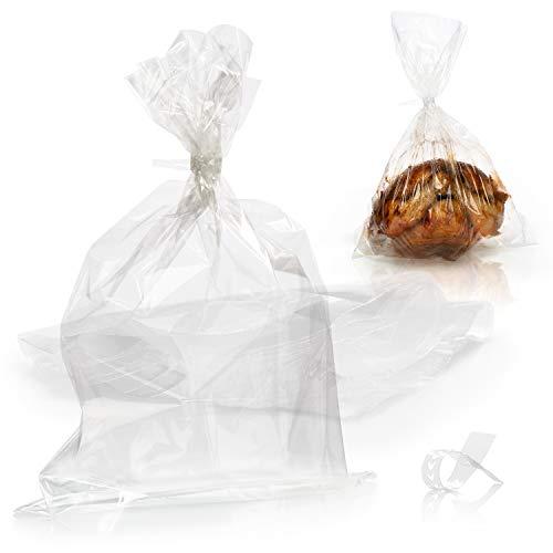 COM-FOUR® 40x bolsa para asar, manguera para asar para horno y microondas, la alternativa limpia al papel de hornear, para asados jugosos, aves crujientes y más