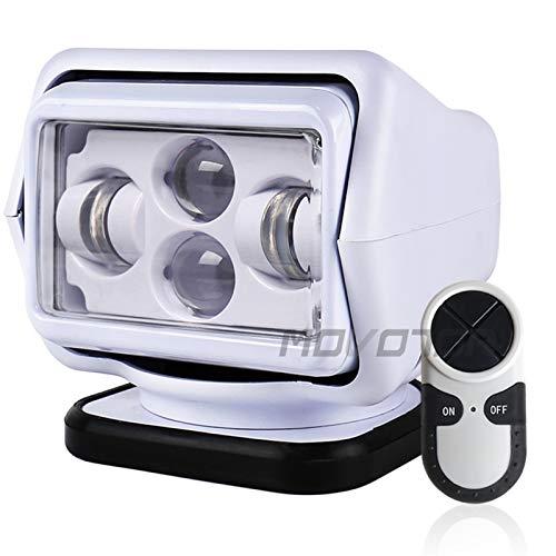 Tira de luz LED 1pcs 60W DC 12 / 24V LED LED LIRCURSE Foco de Control Remoto inalámbrico Spotlight Base magnética para vehículos de Barcos de Coches Wrangler Beam Tira de luz
