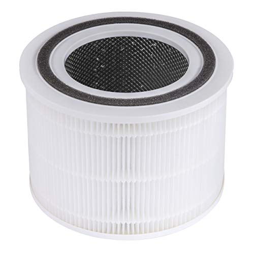LEVOIT Core 300 Air Purifier Replacement Filter, 3-in-1 Pre-Filter, True HEPA Filter, High-Efficiency Activated Carbon Filter, Core 300-RF