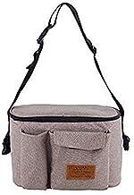 Bolso organizador para cochecito de bebé, bolso cambiador impermeable, bolso de mano con varios bolsillos de almacenamiento (color caqui)