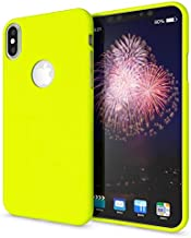NALIA Case Compatible with iPhone X Xs, Ultra-Thin Phone Cover TPU Neon Silicone Back Protector Rubber Soft Skin, Protective Shockproof Slim Gel Smartphone Bumper Back-Case, Color:Yellow