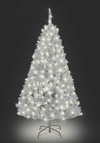SHATCHI Pre-Lit Green/Black/White Bushy Imperial Pine Artificial Deluxe...