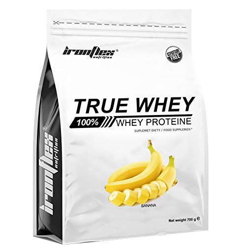 Iron Flex True Whey Protein Concentrate WPC – 1 Pack – Whey Protein Concentrate – Full Amino Acid Profile – Zero Sugar – Great for Bodybuilding and Gym (Banana, 700g)