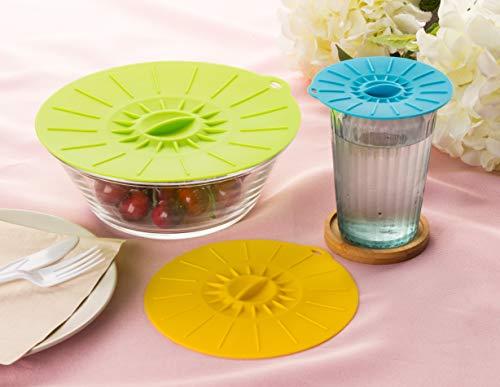 Juvale Silicone Lids, Reusable Food Storage (6 Piece)
