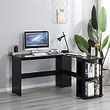 soges Schreibtisch L Form Eckschreibtisch Gaming Tisch Computertisch mit 2...