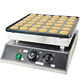 Electric Mini Dutch Pancake Baker Maker for 36 Mini Dutch Pancakes 1000w Commercial Non Stick Pancake Pan Non Stick Griddle Dutch Pancake Maker for Baking Crepes, Muffins, and Dutch Pancakes