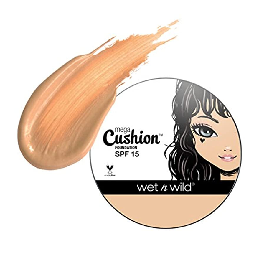 欲しいです量で甘美な(6 Pack) WET N WILD MegaCushion Foundation SPF 15 - Buff Beige (並行輸入品)