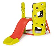 Your kids will enjoy hours of fun, as they scale the three climbing walls, hide-away in the den and slide down the wavy slide or the exciting firemen's pole. All three climbing walls come with easy-to-use climbing holds and for the younger ones, ther...