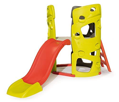 Smoby 7600840204 Abenteuer-Kletterturm mit Rutsche Spielturm für Kinder, mit Kletterwänden und Wasserrutsche für Indoor und Outdoor, für Kinder ab 2 Jahren
