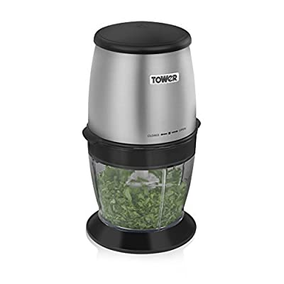 Tower T12009 Coffee and Spice Grinder with Stainless Steel Dual Blades, 550 ml, 300 W, Stainless Steel