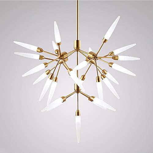 Xiqan Iluminación Moderna de 25 Luces de araña Sputnik con lámpara Colgante de Mediados de Siglo Lámpara de Techo de Granja Industrial Vintage