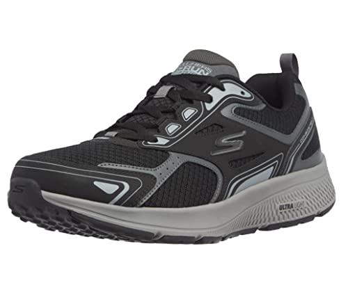 Skechers Go Run Consistent Performance Running & Walking Shoe, Scarpe da Ginnastica Uomo, BKGY, 43 EU