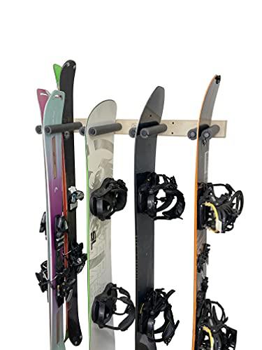Vertical Ski and Snowboard Storage Rack (6 Slots) (6 Slots)