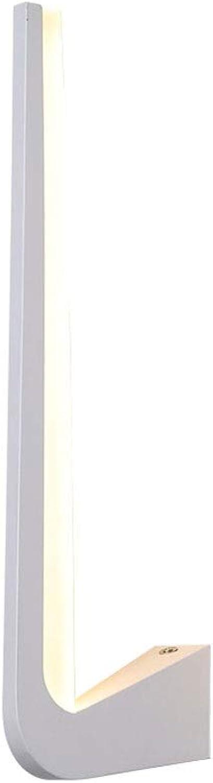 Moderne unbedeutende Wandlampe kreative Landhausnachttischlampe Wohnzimmer Schlafzimmer Korridortreppenbalkonhotelfreizeitplatzausgangsdekoration LED Wandlampe (Farbe   Weiß)