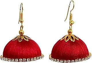 Silk Thread Jhumka Earrings for Women by Multiline Company