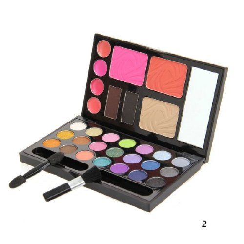 Trihedral-X Makeup 21 Color Eyeshadow Blush Lipgloss-Palette (Color : NO. 1)