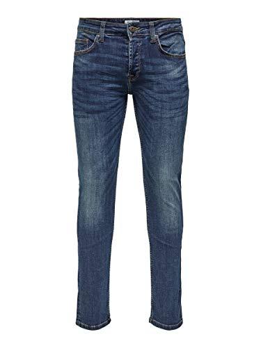 ONLY & SONS Male Regular fit Jeans ONSWeft med Blue 2930Medium Blue Denim