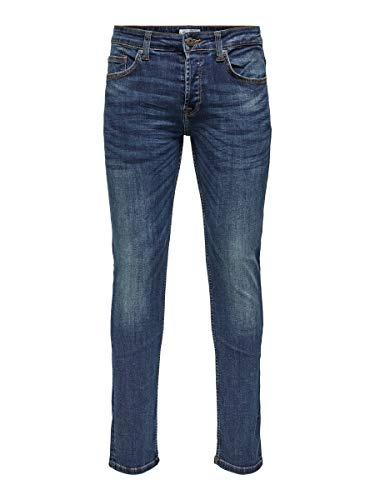 ONLY & SONS Herren Regular fit Jeans ONSWeft med Blue 3432Medium Blue Denim