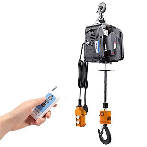 NEWTRY 3 in 1 Electric Hoist Winch 1100lb Wireless Remote