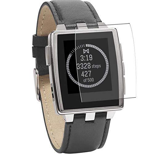 Vaxson 3 Stück Schutzfolie, kompatibel mit Pebble Steel Smartwatch Hybrid Watch, Bildschirmschutzfolie TPU Folie Displayschutz [nicht Panzerglas Hülle Hülle ]